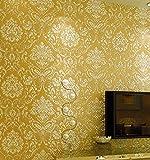 Gold Im Europäischen Stil Tapeten 3D-Hintergrund Geprägte Vliesstoff Tapeten Schlafzimmer Wohnzimmer Damaskus Film Und Fernsehen Hintergrundbild Bronze Wallpaper