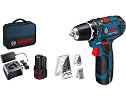 Bosch Professional 12V System accuschroevendraaier GSR 12V-15 (incl. 2x 2,0 accu + oplader, 39-delige accessoireset, in tas)