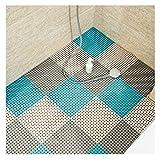 FQJYNLY-Alfombra Puzle FQJYNLY Puzzlematte Badezimmermatten Verschleißfest Wasserdicht Nicht Leicht Verformt Freies Zuschneiden Schwimmbad, 7 Farben (Color : E, Size : 30x30x0.8cm-8PCS)