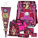 EULE - Owl - Leicht-Schulranzen-Set 6teilig für Mädchen ab 1.Klasse mit...