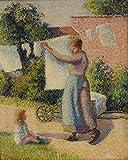 Das Museum Outlet–Frau weigting Out Betten, 1887, gespannte Leinwand Galerie verpackt. 50,8x 71,1cm