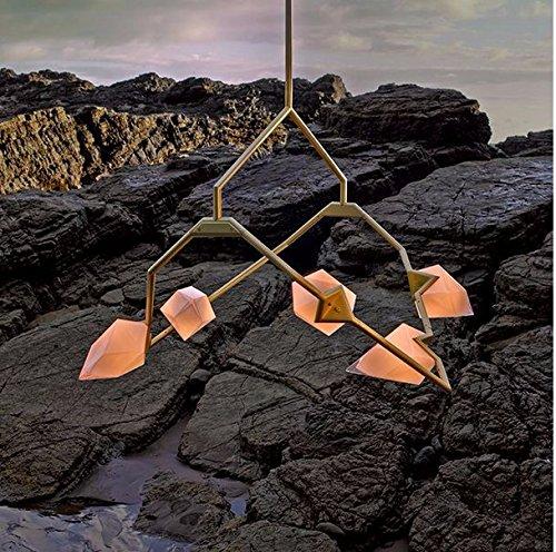 Gowe Nouvelle arrivée Grande LED Lustre moderne Mode lustres lumière LED Lampes LED Lustre décoratifs Branche Couleur du corps : 5 Tête Doré