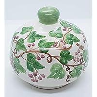 Nascondispugna Linea Edere Bacca Rossa per Cucina e Bagno Handmade Le Ceramiche del Castello 100% Made in Italy