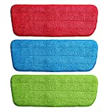 #10: Microfiber Spray Mop Replacement Head Pads Floor Cleaning Cloth Household Cleaning Mop Accessories - SET OF 3 (COLOR AS PER AVAILABILITY)