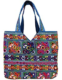 Craft Trade Multicolour Rajasthani Print Party Wear Totes