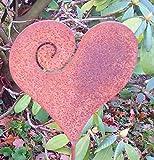 Antikas - Herz klein Blumentopf Stecker, Beet Garten Deko, Edelrost Hochzeitsgeschenk Herz