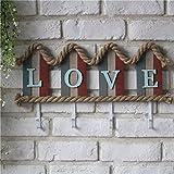 Q&M Amerikanisches Land den Alten, antiken Haus Typ Vier kleine Wandhaken Garderobe dekorative Anhänger Liebe zu tun