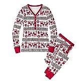 LvRao Famiglia Pigiama di Natale Pajamas Xmas Renna Pantaloni T-Shirt per Mamma papà Neonato Bambino (Xmas #Mamma, CN XL)