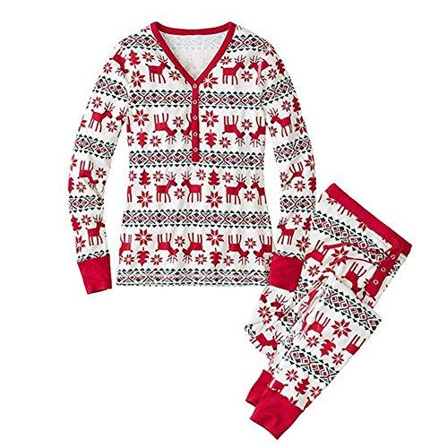 LvRao Famiglia Pigiama di Natale Pajamas Xmas Renna Pantaloni T-Shirt per Mamma  papà Neonato Bambino 65aaaa9e0aa