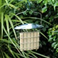 Kingfisher Hanging Suet Fat Cakes Holder, Steel Wild Bird Block Meal Food Feeder by Happy Beaks by Happy Beaks