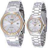 Casio for Unisex - Analog Stainless Steel Band Watch - MTP/LTP-1170G-7, Quartz