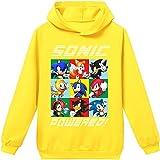 Silver Basic Tamaño Unisex para Niños Sonic The Hedgehog Sudadera con Capucha Sudadera Sonic Adventure Cosplay Sonic Ropa par