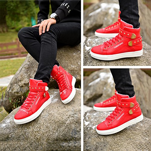 Skateshoes Homme Hiver - automne l'exécution Sneaker antidérapante hommes rouge taille39 O703u