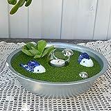 Gartenzaubereien Miniteich Keramik Fisch blau