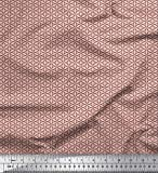 Soimoi Orange Samt Stoff Blumen- klein Stoff Meterware 58