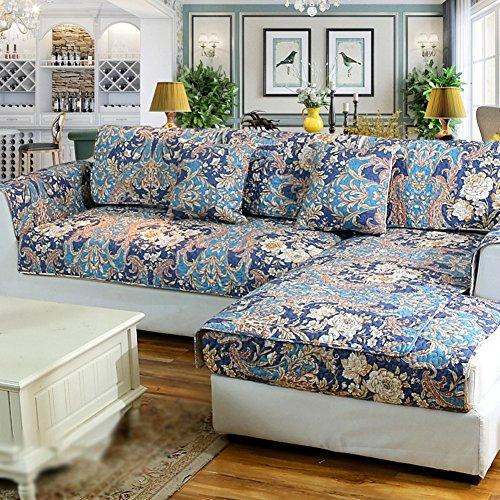DSAQAO Vier jahreszeiten universal gesteppte sofa handtuch, Volle sofaabdeckung Anti-rutsch Couch-schutzhülle, Sofa protector-C 110x240cm(43x94inch)