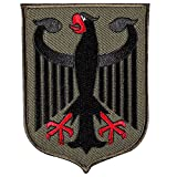 Germany Eagle Shield - German Coat of Arms Flag Tactical Morale Patch - Embroidered Patch Badge Sew on Hat, Jackets, Backpack(ArmyGreen)