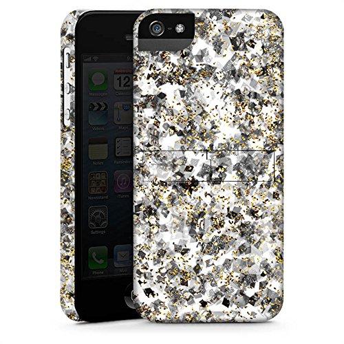 Apple iPhone X Silikon Hülle Case Schutzhülle Muster Glitzer Silber Premium Case StandUp