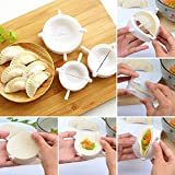 Dumpling Maker-ravioli Press, bianco, set di 3dimensioni-Stampo per pasta, Come da immagine, 10cm, 8cm, 7cm