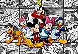 1art1 78221 Micky Maus - Minni Maus, Donald Duck, Daisy Duck Und Freunde, 4-Teilig Fototapete Poster-Tapete 360 x 255 cm