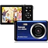"""Compact Digital Camera, Rechargeable 20MP Kids Camera with 2.8"""" LCD 8X Digital Zoom for Adult Seniors Elders(Blue)"""