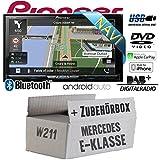 Mercedes E-Klasse W211 - Autoradio Radio Pioneer AVIC-Z810DAB - Navigation | DAB+ | Bluetooth | DVD | Android Auto | Apple CarPlay Einbauzubehör - Einbauset