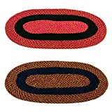 #8: Story@Home Handicraft Style Eco Series 2 Piece Cotton Blend Door Mat Set - 16