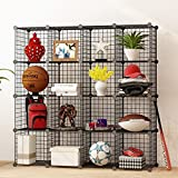 House Of Quirk Diy Closet Cabinet Metal Wire Storage Cubes Organizer (16 - Regular Cube) (35X35 Per Cube Size)