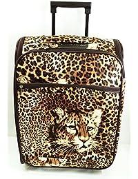 """Maleta de Cabina, modelo """"Leopardo"""". Con 3 Cremalleras. Muy práctica. Con acceso al interior por los laterales. Medidas: 53x38x20 cms.."""