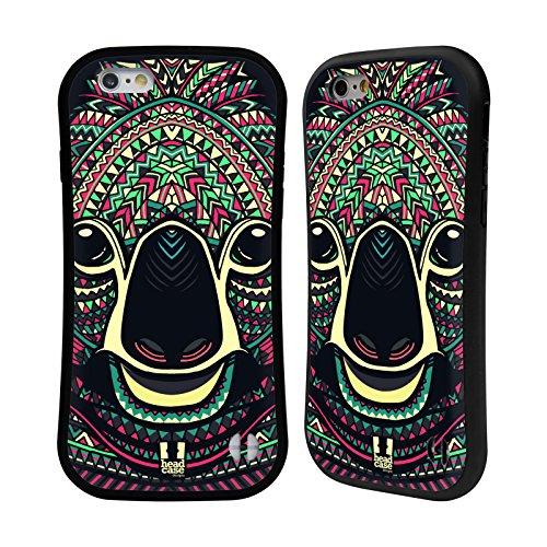 Head Case Designs Raton Laveur Animaux Aztèques Serie 5 Étui Coque Hybride pour Apple iPhone 6 / 6s Koala
