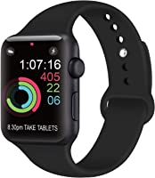 AK Compatible Apple Watch Bracelet 42mm 38mm 44mm 40mm, Bracelet de Sport en Silicone Remplacement Compatible la série...
