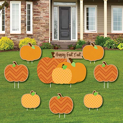 Kürbis-Aufnäher - Yard Sign & Outdoor Rasen Dekorationen - Fall & Thanksgiving Party Yard Schilder - Set von 8 ()