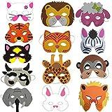 Saflyse 8PCS Kindermasken Tiermasken Gesichtsmasken Partymasken Tiermaskenset für Kinder aus EVA(Stil zufällige)