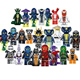 Ninjago Mini Figurines lot x24 Very Custom Made - Set of 24 Ninja Minifigures-...