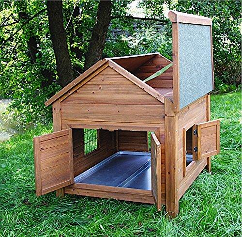 Kleintierstall für Kaninchen oder Hühner, BIG, Kerbl, einstöckig, mit Bitumendach, 105 x 100 x 108 cm - 4