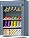 AYSIS Multipurpose Storage Organizer, 4 Shalves Portable Foldable with Nonwoven Fabric Cover Shoe Cabinet for Closet…