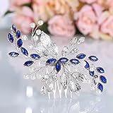 Mayelia - Pettine per capelli da sposa, con perle argentate, accessorio per capelli da sposa, per donne e ragazze