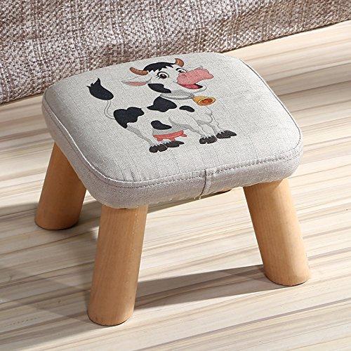 Dana Carrie En d'autres selles banc de chaussures sur une table basse tabouret bas en bois massif et tissus adultes enfants créatifs élégante petite chaise canapé tabouret rond, président - le veau