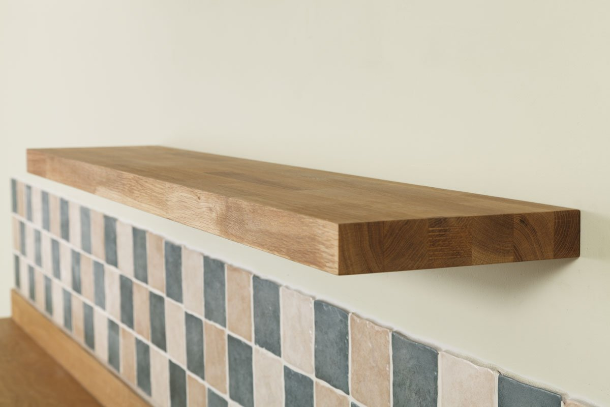 Solid Oak Timber Block Floating Shelf - Available in a Variety of Sizes  (300mm x 200mm x 40mm): Amazon.co.uk: Kitchen & Home