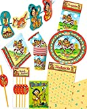Großes Partyset Indianer für 8 Kinder, Mottoparty, Kindergeburtstag, Indianer Yanuk, Indianer Party