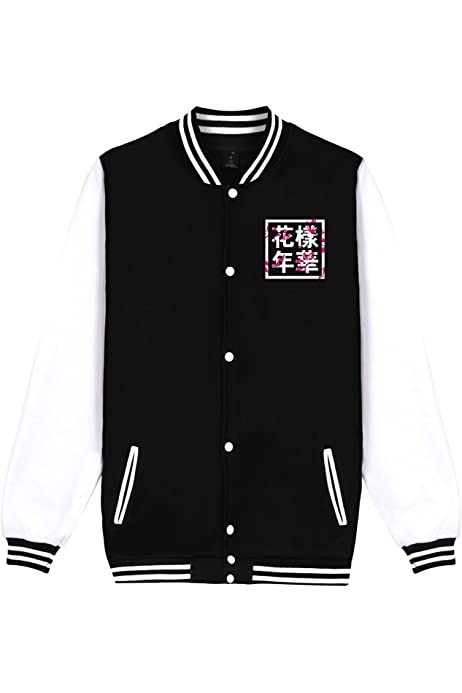 BTS Love Yourself Her Uniforme de Veste de Baseball Suga Jin Jimin Jung Kook Pull molletonn/é