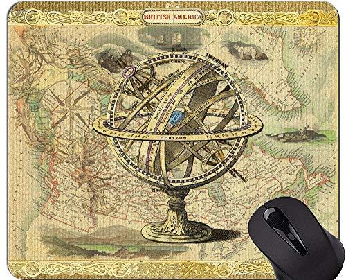 Karten-Spiel-Mausunterlage, helle zeigende Weinlese-Mausunterlage mit genähtem Rand