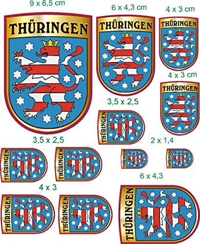 Aufkleber WappenSet Europa Thüringen