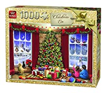 King 5683 réveillon de Noël – Puzzle – Lot de 1000, 68 x 49 cm