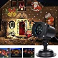 Vokul Moves Automatically LED Landscape Spotlight Projector Light, Indoor/Outdoor Garden Landscape Lights, Wall Decoration Light, Party Light ,Chirstmats Light with 12pcs Switchable Theme Flakes - cheap UK light store.