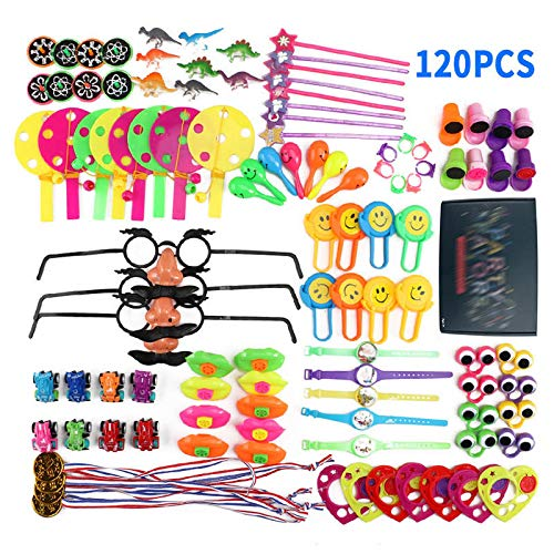 Party Favors - 120 Pcs Assorted Gift Kids Festive Party Birthday Favors School Rewards Carnival Prizes Pinata - Girls Party Religious Bulk Gold Video Unicorn Naughty Patrol Glow Adult Ju