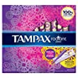 Tampax Radiant Plastic, Regular Absorbency, Unscented Tampons, 32 Count