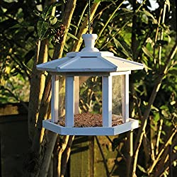 Color blanco de madera hexagonal Conservatory colgante para pájaros nido nido caja cámara
