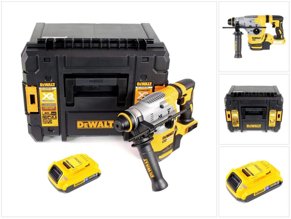 DeWalt DCH 283 NT Akku Kombihammer 18V 2,8J SDS plus Brushless+ 1x Akku 2,0Ah + TSTAK – ohne Ladegerät