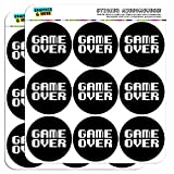 Game Over Gamer Pixel Font Geek 2 Scrapbooking Crafting Stickers by Graphics and More